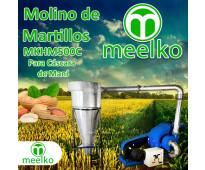 (Cáscara de maní) Molino triturador de biomasa a martillo electrico hasta 1500 k...