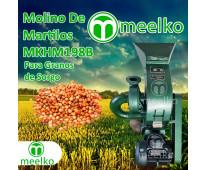 (Granos de Sorgo) a martillo Molino triturador de biomasa eléctrico 360 kg - MKH...