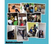 Curso multidisciplinario, primeros auxilios, evacuación, incendio