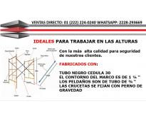 TORRE/ANDAMIOS MODULAR TUBULAR CED. 30, ENTREGA INMEDIATA SUC. IFAMSA PUEBLA 1
