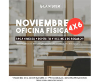 LANISTER OFICINAS FISICAS Y VIRTUALES, SERVICIOS INCLUIDOS!!