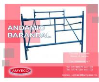ANDAMIO BARANDAL DE 1.56X1 MTS.
