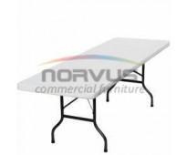 Vendo mesas plegables de plastico para banquetes