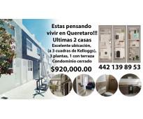 Casas en Querétaro, excelente ubicación