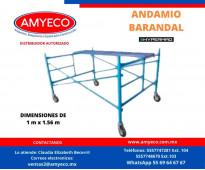 Renta de modulo de  andamio Barandal