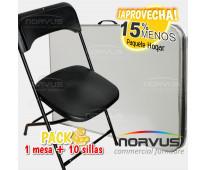 Oferta en sillas y mesa tipo maletin