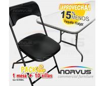 Vendo sillas y mesas practicas para alquiler