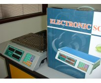 Basculas Electrónicas Tipo Supermercado, capacidad máxima de peso 30 kilos