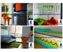 rento apartamento amoblado en belén  cód. 173