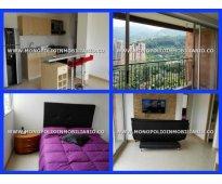 apartamento amoblado para la renta en el trapiche sabaneta cod 3753