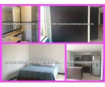 apartamento amoblado para la renta en laureles medellin cod 3752