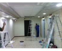 instalacion de drywall y pisos laminados