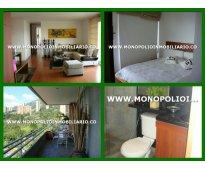 apartamento amoblado - barrio el poblado medellin cod.3842