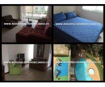 apartamento amoblado para la renta en medellin sector poblado cod.4057