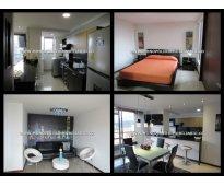 apartamento amoblado para la renta en medellin el poblado cd 3983