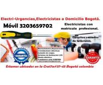 Electricista,Nicolas de Federman,Chapinero,Quintaparedes,Las americas,Campin,Mar...