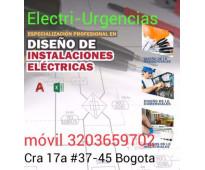 Electricista,El virrey, pablo VI, siete de Agosto,la esperanza,Rafael nuñez,Arme...