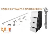 Cambio y mantenimiento de correderas para archivadores