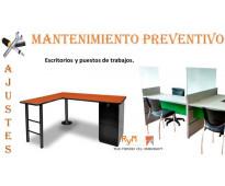 Fabricación y mantenimiento de escritorios
