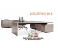 Mantenimiento de escritorios ejecutivos en L