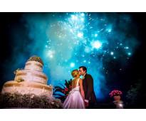 servicio de venturi y volcanes de polvora fria para bodas y eventos en cartagena