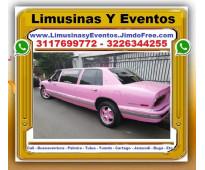 ⭐ Transporte Pasajeros Cali, Alquiler LIMUSINA ROSADA, Limosina, Turismo, 15 Qui...