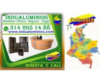 ⭐ INDUALUMINIOS, Closets, Vitrinas, Divisiones Oficina y Baño, Archivadores, Mos...