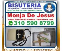 ⭐ Monja De Jesus, Bisuteria Colombia, Camandulas, Rosarios, Denarios, Escapulari...