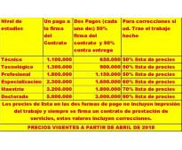 SE REALIZA LA GESTIÓN DE PROYECTOS & TESIS (CON MAS DE 20 AÑOS DE EXPERIENCIA)
