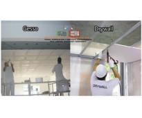 Divisiones en piso techo en gesso y drywall