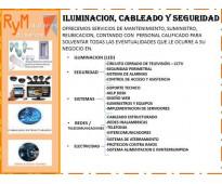 Mantenimiento e Instalacion de iluminacion, cableado y seguridad.