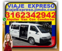 ⭐ Transporte 16 Pasajeros, Alquiler Vans, Van, Con Conductor, Desde Bogota, Chia...