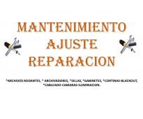 Mantenimiento, ajuste y reparación