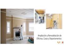 Ampliación y remodelación de oficinas, casas, apartamentos