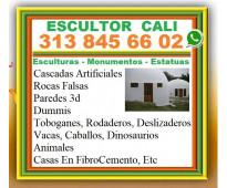 ⭐ ESCULTOR CALI, Esculturas, Monumentos, Moldes, Cascadas Artificiales, Rocas Fa...