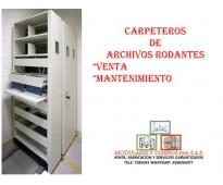 CARPETERO DE ARCHIVO RODANTES