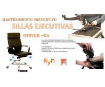 Mantenimiento de Sillas ejecutivas.