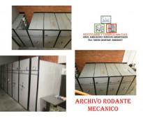 TRANSPORTE Y MONTAJE DE ARCHIVOS RODANTES