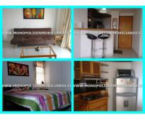 apartamento amoblado para la renta en el poblado medellin las vegas  cod 3107