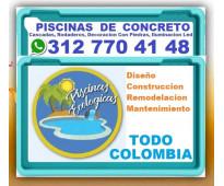 ⭐ FABRICA DE PISCINAS ECOLOGICAS En Concreto, Cascadas, Rodaderos, Decoracion Co...