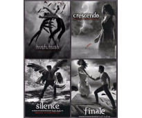 Se vende la saga «Hush Hush» de Becca Fitzpatrick (Hush, Hush + Crescendo + Sile...