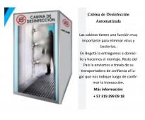 Ofrecemos cabinas de desinfección para combatir el Coronavirus