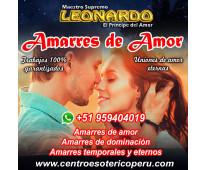 Leonardo especialista en trabajos de amor