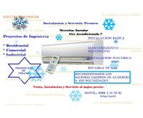 Reparaciones eléctricas industriales y refrigerantes, aire acondicionado