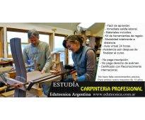 Curso de carpintería profesional a distancia con materiales