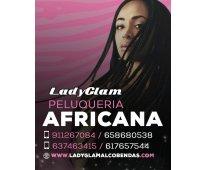 Estilo africano elaborado por profesionales