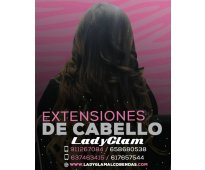 Extensiones del color y largo que desees