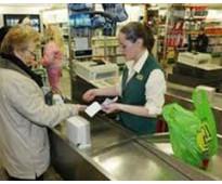 Se precisan cajeros,dependientes,expendedores,camareros en supermercado