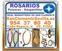 ⭐ sevilla, rosarios, collares, pulseras, gargantillas, medallas, con cuentas de...