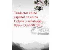 Traductor chino español en shanghai, china